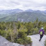 hiker finds a moment of solitude on Giant Mountain during a busy weekend