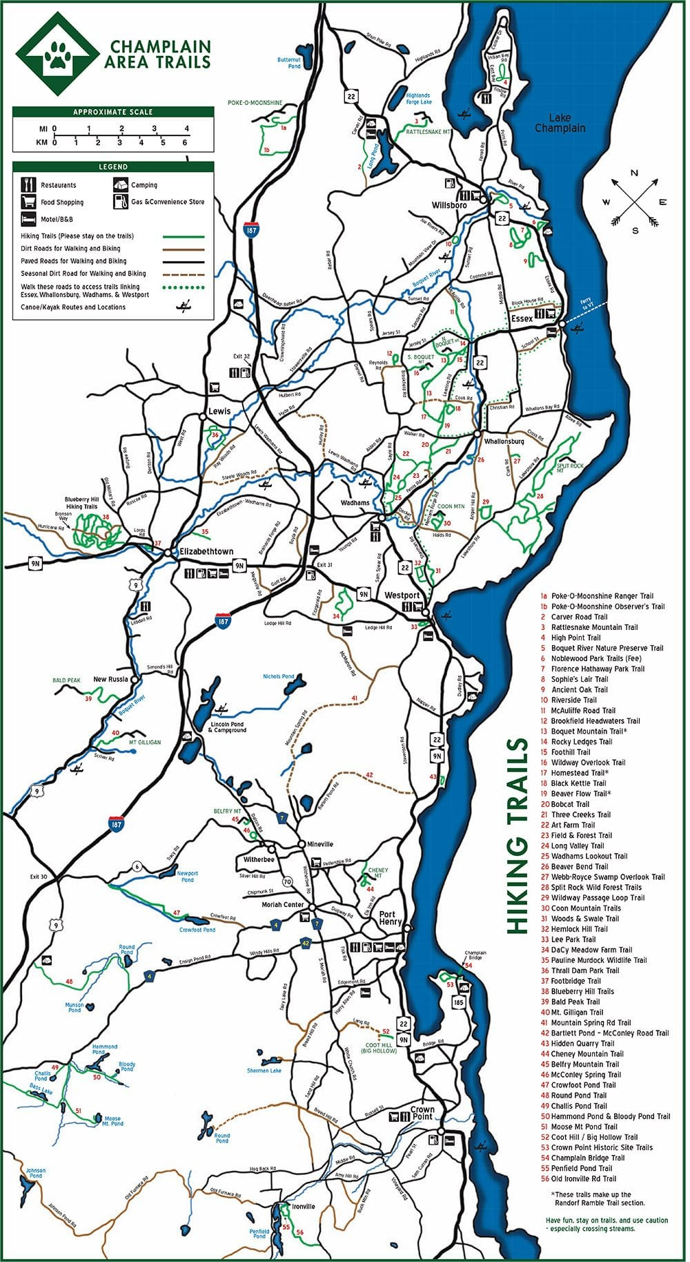 Champlain area trails publishes new trail map the adirondack to keep up to date with its expanding network of hiking trails in the champlain valley champlain area trails cats has published a new updated paper gumiabroncs Image collections
