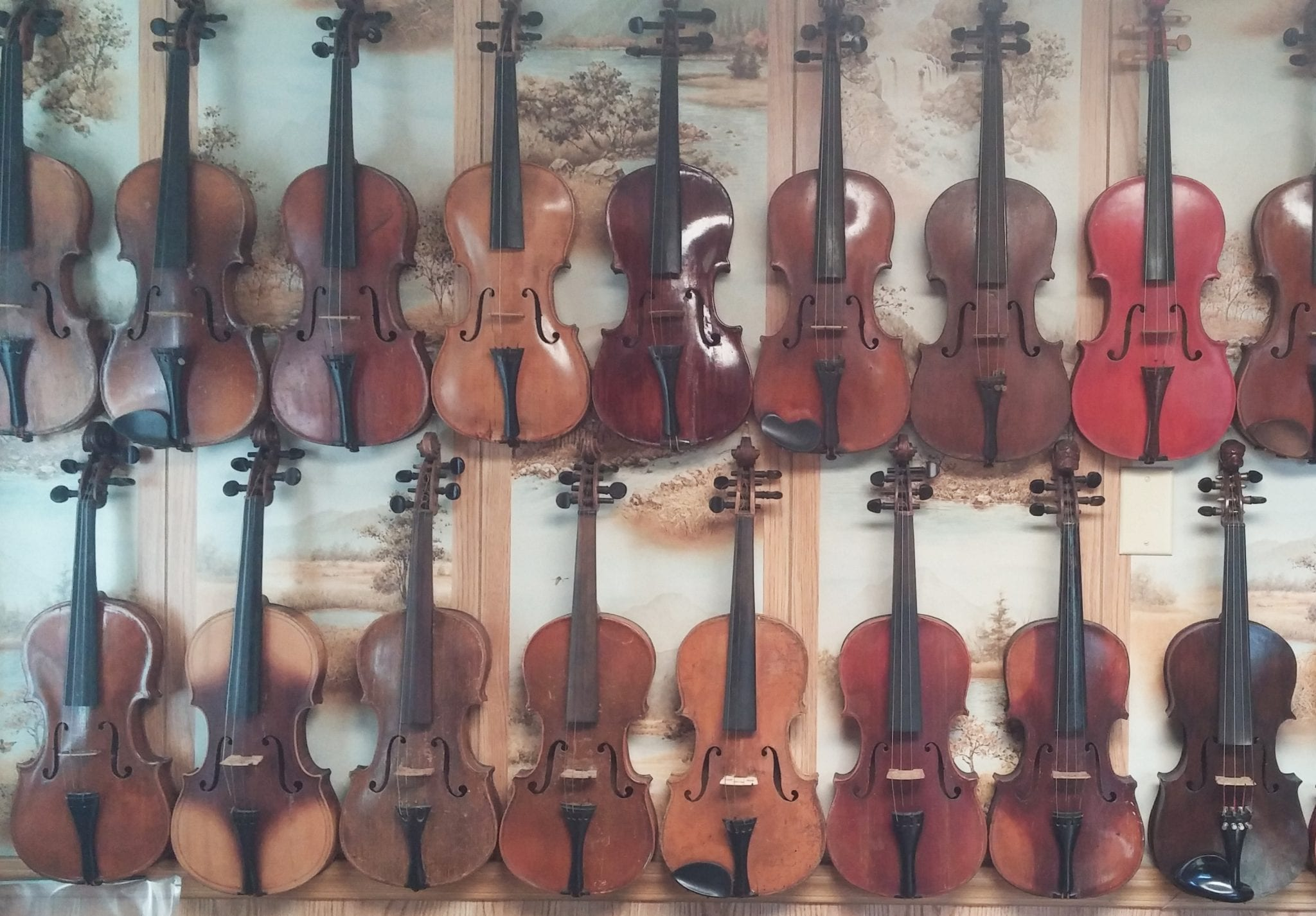 Fiddles from the personal collection of Rick Streeter