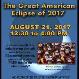 Adirondack Public Observatory Celebrating The Solar Eclipse
