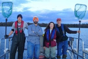 2016 Cornell Adirondack Fisheries Research Program Boat Crew