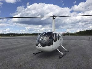 A Go Aviation helicopter.