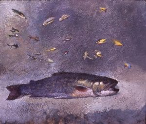 Flies for Cat Ponds, acrylic16x19,1997(72)