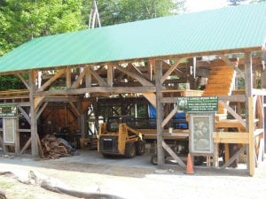 Martin's Certified Tree Farm will show of their traditional timber frame barn-in-progress