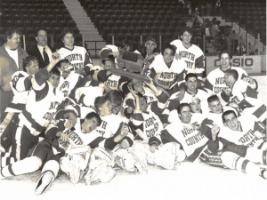North Country Community College's 1995 men's hockey team