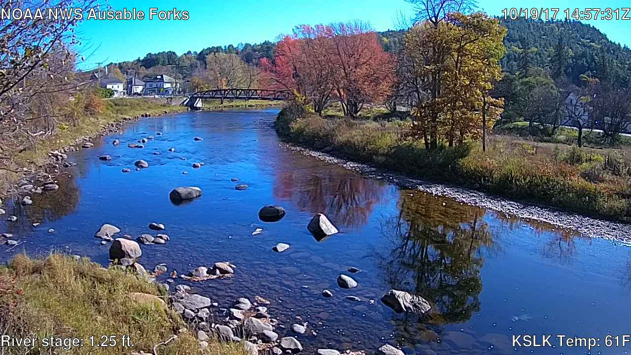 East Branch Ausable River at Au Sable Forks 10/19