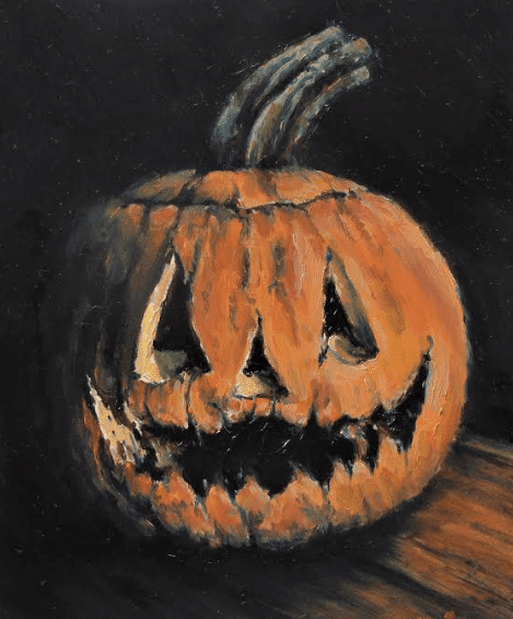 Portrait of a Rotting Jack-O-Lantern