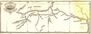 Sacandaga River n Erie Canal Early Map