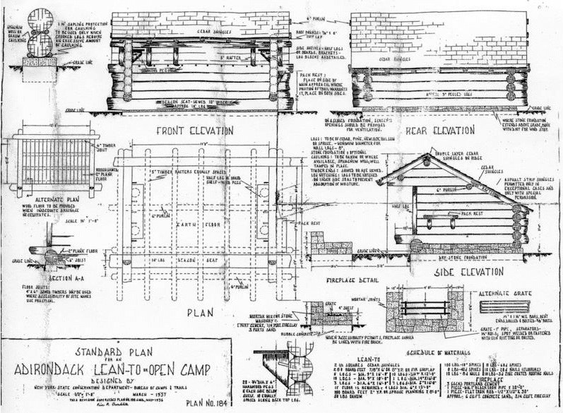 The Original Plans For Building A Lean To Were Published By New York Conservation Department S Bureau Of Camps And Trails In March 1957