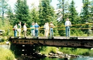 DEC and APA Staff Visit Jordan River in 2001 (Dave Gibson Photo)