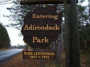 Adirondack Park Centennial Sign