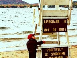 Lifeguard in Winter