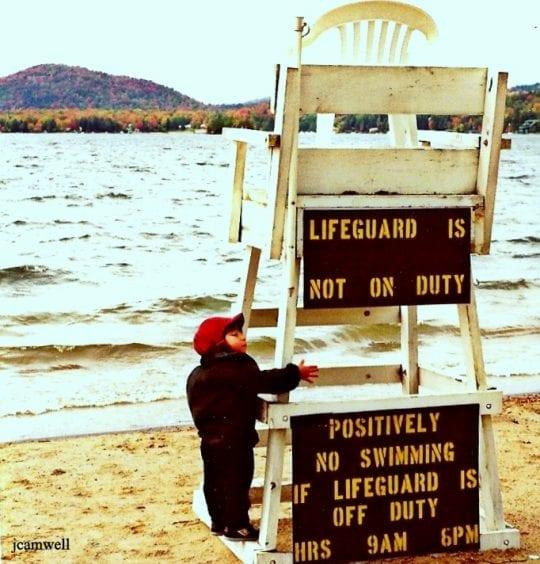 Lifeguard in Winter