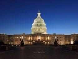 US Capitol at dusk 2013