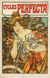 Cycles Perfecta, 1902, by Alphonse Mucha