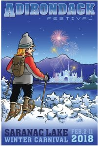 2018 Saranac Lake Winter Carnival Poster by Garry Trudeau