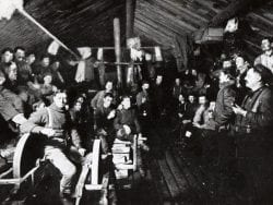 Logging camp (Adirondack Museum Photo