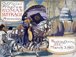 Program Cover from 1913 Washington DC March