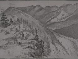 Colvin sketch from his Survey in the Great Range, c. 1870s