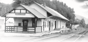 The North Creek Station when D&H still operated the railroad
