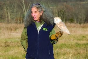 Photo of Wendy Hall of the Adirondack Wildlife Refuge by Mike Lynch