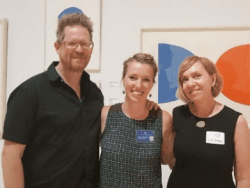 Corey Aldrich of 2440 Design Studio; Jenny Hutchinson, The Hyde Collection's educator; and Maureen Sager, project director of Upstate Alliance for the Creative Economy