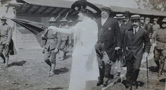 "Mrs. Pell, President Taft, A. C. Bossom"" July 6, 1909."