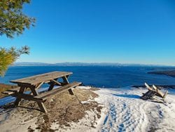 Cadence's Crest Trails with views of Lake Champlain,