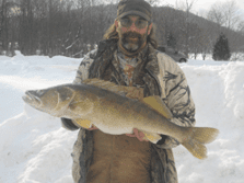 16 lb. 9 oz. NYS record walleye caught by Thomas Reed
