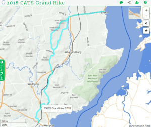 2018 CATS Grand Hike Route