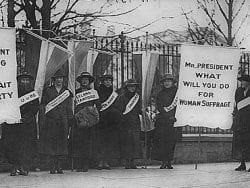 Suffragettes Picketing White House