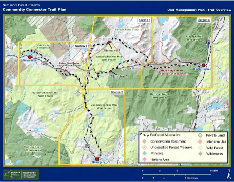 The DEC's Community Connector Trail Overview for the Newcomb-Minerva- North Hudson region