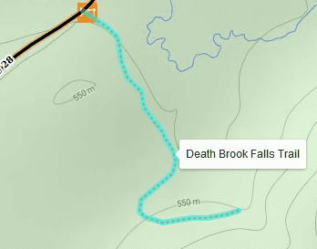 death brook falls trail