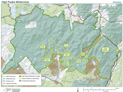 High Peaks Wilderness Map May 2018