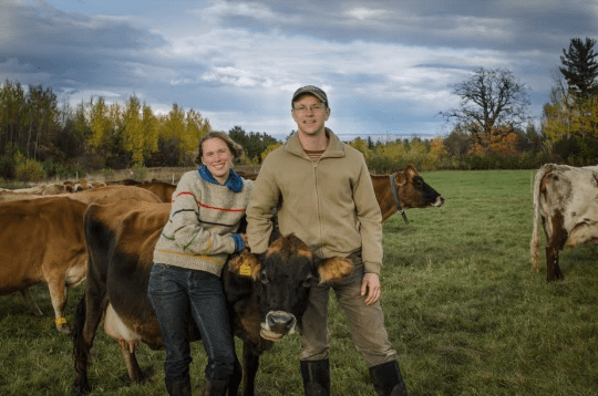 North Country Creamery owners, Ashlee Kleinhammer and Steven Googin