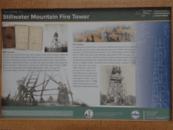 stillwater mountain fire tower sign