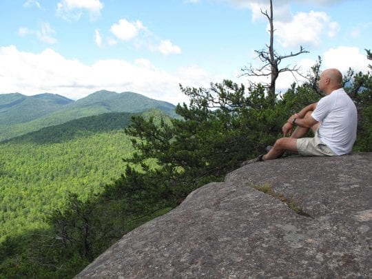 view from Rattlesnake Knob at Four Peaks, recently purchased by the Adirondack Land Trust
