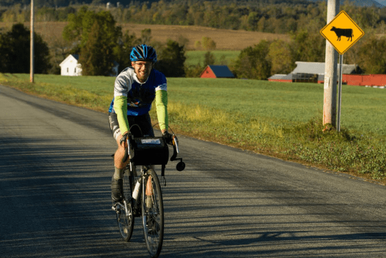 Bike the Barns rider pedals through New York's Champlain Valley