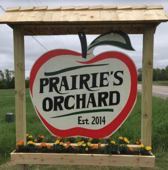 prairies orchard sign