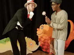 Benjamin Hergenroeder as the Cat in the Hat and Michael Hudlin as Horton the Elephant