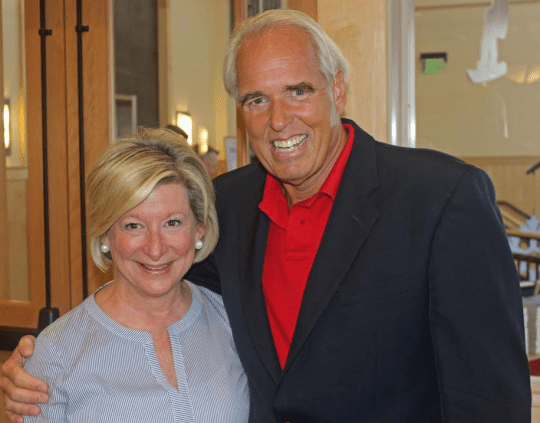 Kiernan with Cathy McGraw, President of the Lake Placid Institute