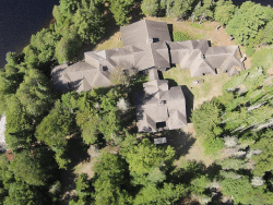 Santanoni Main Lodge from Air by Jed Thone