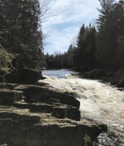 Quarry Dam during spring high flows