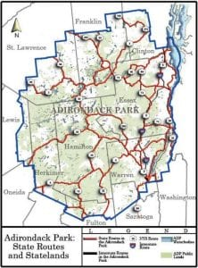 State Routes in the Adirondack Park