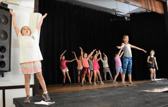 BRTF junior actors rehearsing