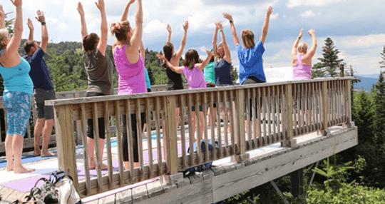 Gore Mountain yoga class