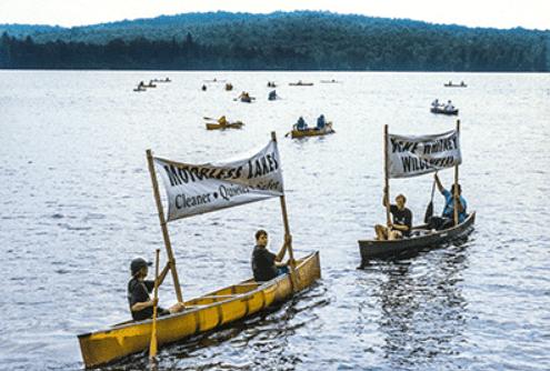 Motorless lakes protest courtesy Nancie Battaglia