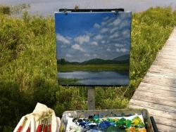 Painting of Heron Marsh by Sandra Hildreth
