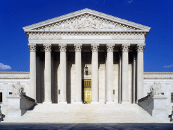 West face of the United States Supreme Court building in Washington DC