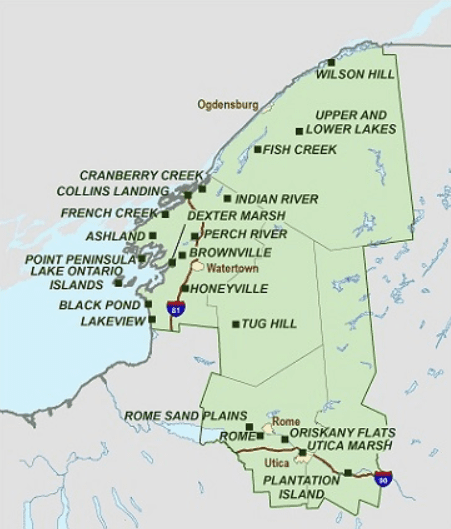 Western Adirondacks Upper Mohawk Valley Eastern Lake Ontario WMAs - Region 6
